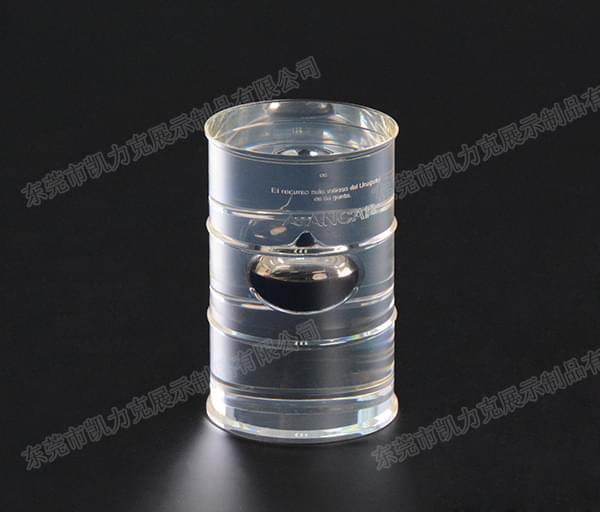 水晶胶油桶工艺品